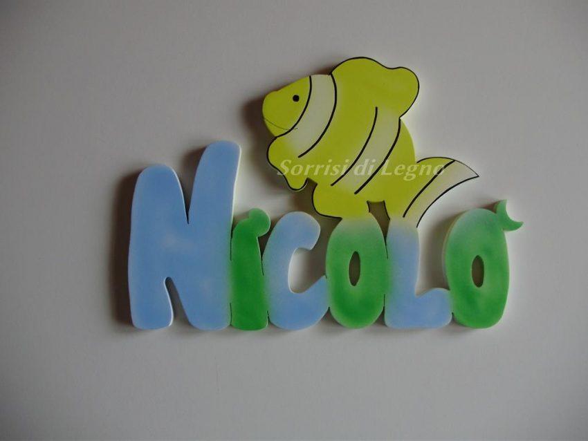 Nome-Nicolo-con-pesce-pagliaccio-giallo