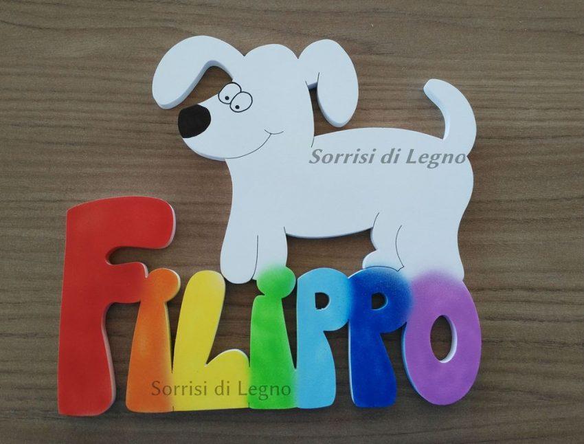 Nome-Filippo-colori-arcobaleno
