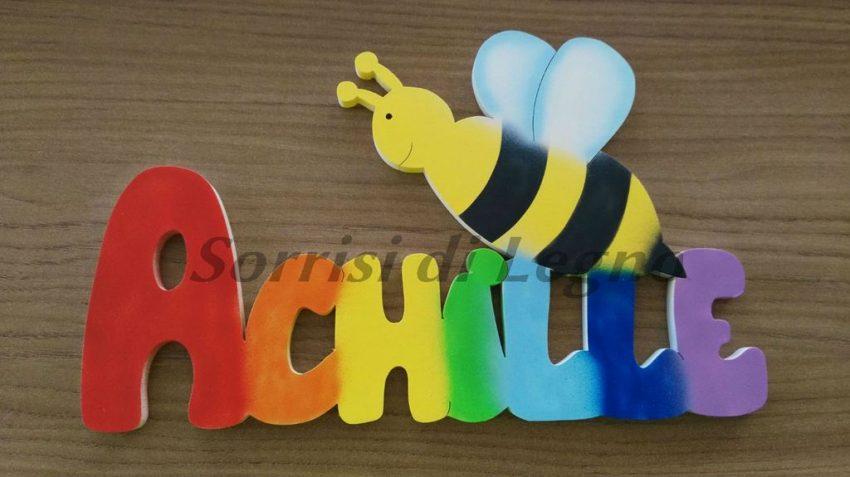 Nome achille colori arcobaleno sorrisi di legno - Arcobaleno a colori e stampa ...