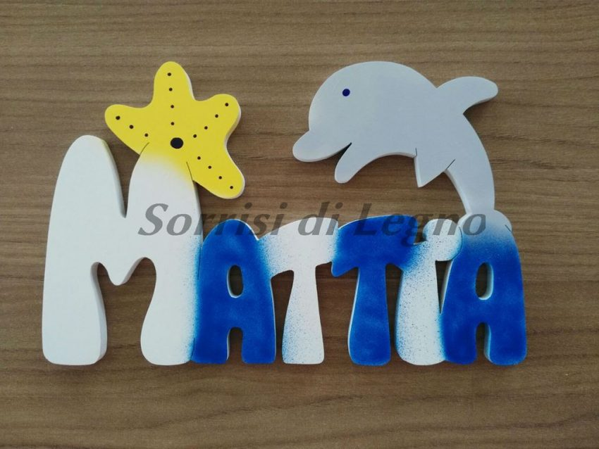 Nome-Mattia-con-stella-marina-gialla