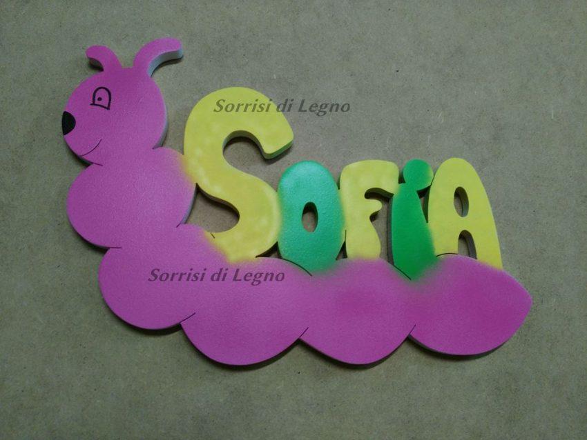 Nome-Sofia-con bruco-rosa