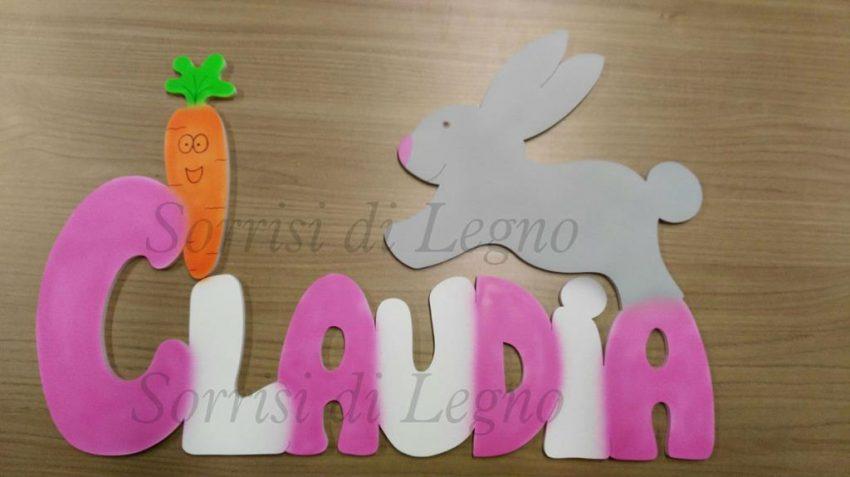 Nome-Claudia-grande-con-coniglietto- carota-1