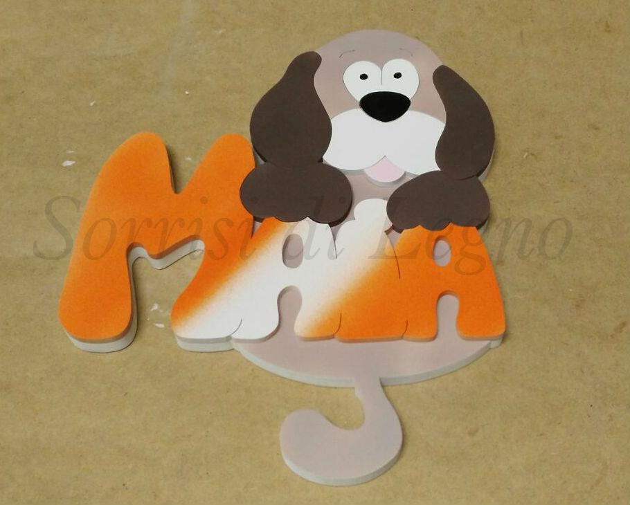 Nome-Maia-con-cane- intagliato 2