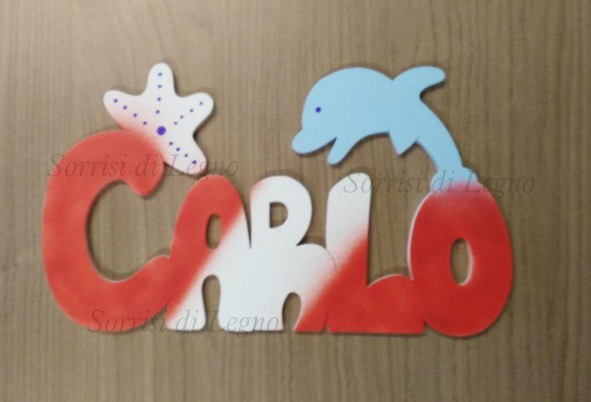 Nome-Carlo-scritta-in-legno