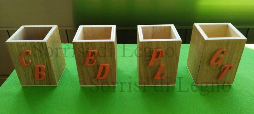 porta penne in legno personalizzato