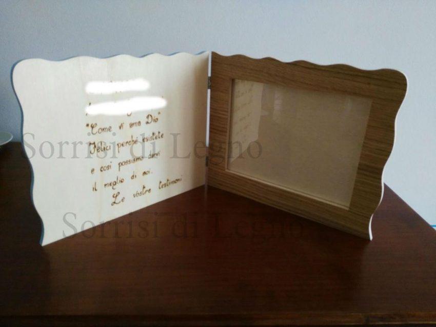 Portafoto personalizzato in legno