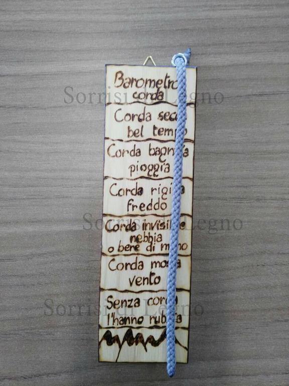 barometro piccolo in legno