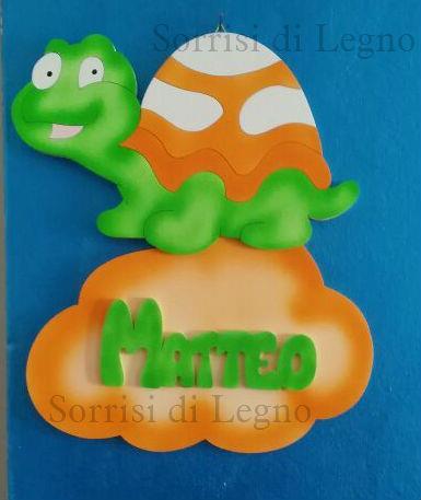 Matteo fiocco con tartaruga