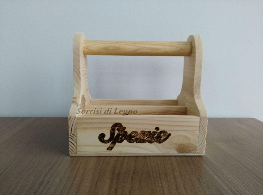 Porta spezie in legno coccinella sorrisi di legno - Spezie in cucina ...
