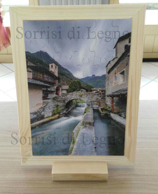 Cornice con puzzle, stampa digitale su legno