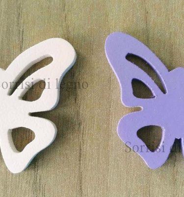 Farfalla in legno decorato con calamita