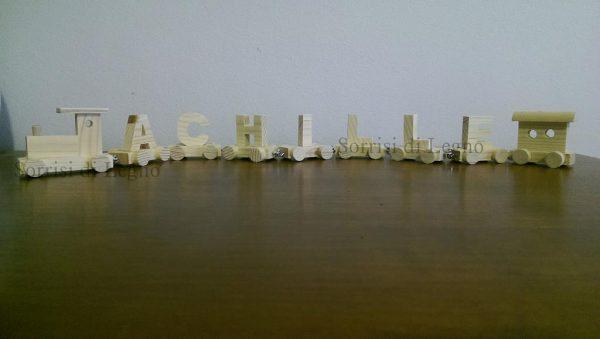 Trenino in legno personalizzato Achille