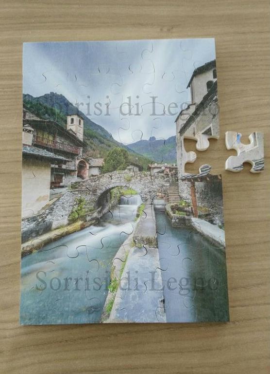 Foto puzzle Chianale stampata in digitale sul legno
