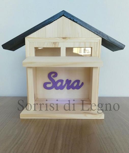 Casetta con nome personalizzato