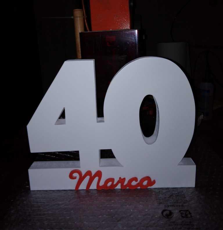 Numero 40 con il nome Marco
